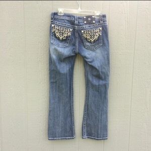 Miss me relaxed fit detailed pockets jeans sz 29